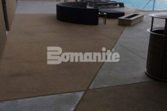 This durable and decorative pool deck was created using Bomanite Alloy architectural exposed concrete and will provide improved wear resistance and durability that will stand up to the foot traffic that comes with the club goers, wedding parties, corporate events, and concerts at the Tulsa Hard Rock Hotel & Casino.
