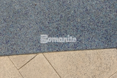 The entrance to the St. Louis Aquarium features Bomanite Revealed decorative concrete that was installed to create a beautiful hardscape surface with distinct design detail that perfectly portrays the Mississippi and Missouri River confluence.