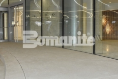 The 2018 Silver Award for Best Bomanite Exposed Aggregate System was presented to our colleague, Colorado Hardscapes, and their precision and technical installation of Bomanite Sandscape Refined decorative concrete to create the grand porte-cochere at 50 Fifty DTC, resulted in distinctive design details that beautifully complement the intricate and sophisticated aesthetic of this office complex.