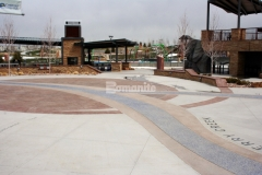 We utilized Bomanite Imprint Systems and Bomanite Exposed Aggregate Systems throughout Centennial Center Park to create durable hardscape surfaces that serve as a backdrop for historical facts and informational content and our installation resulted in the 2019 Bronze Award for Best Bomanite Exposed Aggregate Project under 6,000 SF.