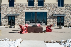 The sprawling site of the Gaylord Rockies Resort & Convention Center features multiple Bomanite Systems, including the Bomanite Sandscape Texture Exposed Aggregate System that was mixed with three different integral colors to produce a high-profile hardscape surface that beautifully complements the natural surroundings and charming Colorado design details.