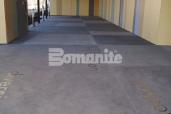 Bomanite Sandscape Texture Exposed Aggregate was installed here by our associate Bomanite of Tulsa with the utilization of several different shades of gray Bomanite Con-Color, creating an artistic and decorative concrete hardscape while providing a welcoming exterior space and entrance to the Tulsa County Family Center for Juvenile Justice.