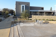 Sandscape Refined Antico decorative concrete by Bomanite was installed here with a cohesive design layout to create consistency between the various gathering spaces across the campus of CrossCity Christian Church.
