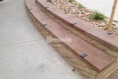 We incorporated Bomanite Imprinted Slate Texture stamped concrete into various areas of the hardscape at Centennial Center Park and this product will provide durability while adding distinct decorative qualities that make this space not only a place to play, but a place to learn.
