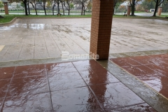 The Residence Condominiums in Clayton, MO features a stylish new stamped concrete driveway and walkways that were installed by our colleague Musselman & Hall Contractors and their creativity, quality, and craftsmanship in the detailed installation earned them the Best Bomanite Imprint Systems Project Gold Award.