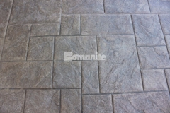 The Bomacron Medium Ashlar Slate pattern is featured here and would be perfect to provide an English slate textured stamped concrete hardscape that will add beautiful design detail and result in long lasting paving and flooring with minimal maintenance requirements.