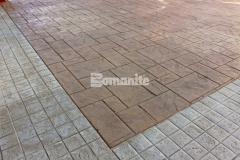The Texas themed look at the Tanger Outlets Fort Worth was enhanced by installing over 145,000 SF of architectural concrete throughout the space and our associate Texas Bomanite incorporated four different Bomacron patterns that include Canyon Stone, Medium Ashlar Slate, Random Boardwalk, and Granite Setts with multiple colors of Integral Color, Color Hardener, and Release Agents to add unique character and design detail.
