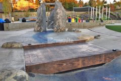 The Bomacron 12-inch Boardwalk pattern was chosen for this space to create a unique playground feature and the expert installation of Bomanite Imprint Systems by our colleague Belarde Company provided a beautiful hardscape surface that is perfectly suited to the interactive play area in Downtown Bellevue Park.