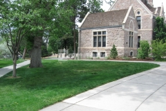 Premier Concrete Services installed Grasscrete by Bomanite on the Colorado College campus, providing access to a fire hydrant that is set back from the roadway while concealing the concrete subsurface and maintaining the beautiful natural landscape.